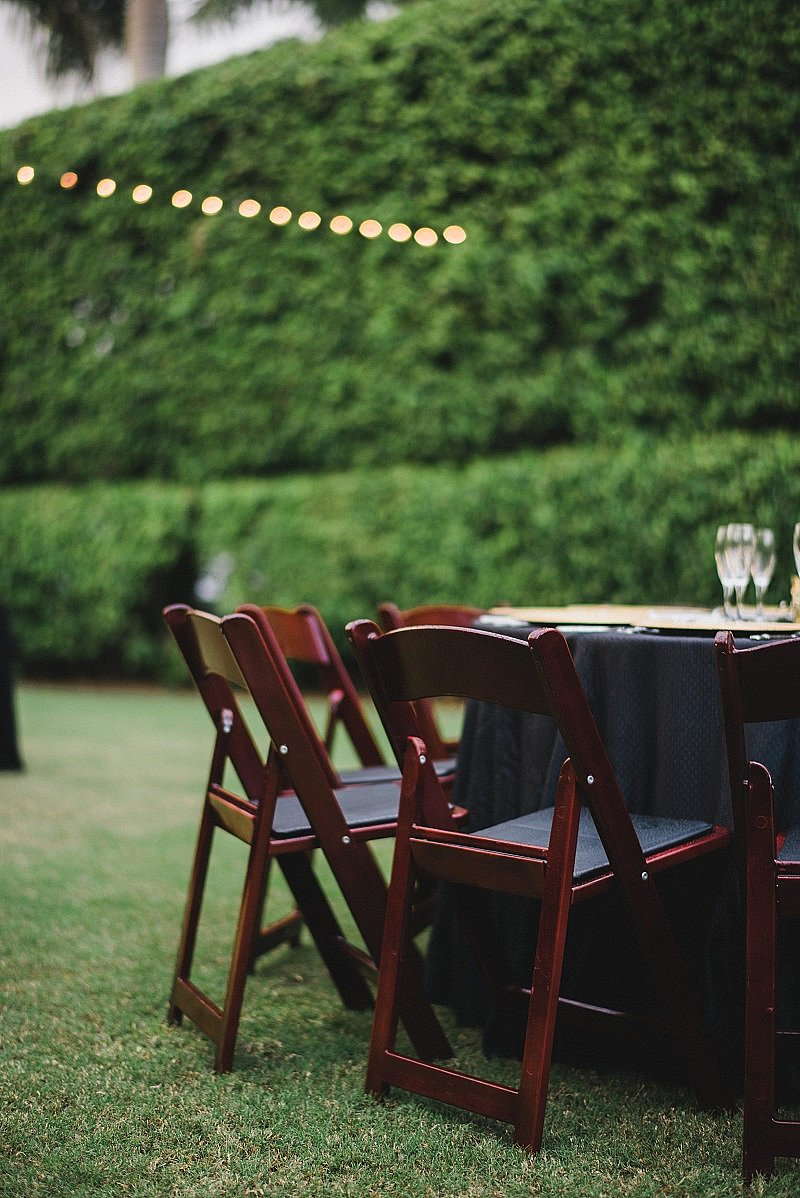 Rental garden chairs - Rent Our Mahogany Folding Rental Chairs And Tables For Your Next Garden Party Niche Event Rentals Naples Fl